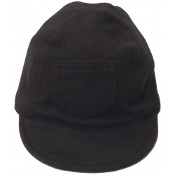 Interlock Solid Black Infant Baseball Cap