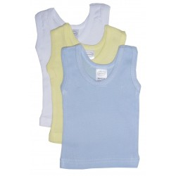 Boy's Rib Knit Pastel Sleeveless Tank Top Shirt 3-Pack