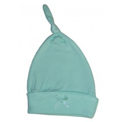 Pastel Interlock Knotted Baby Cap
