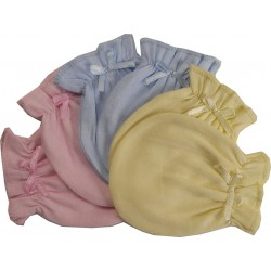 Pastel Cotton Jersey Infant Mittens