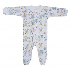 Interlock Print Closed-Toe Sleep & Play
