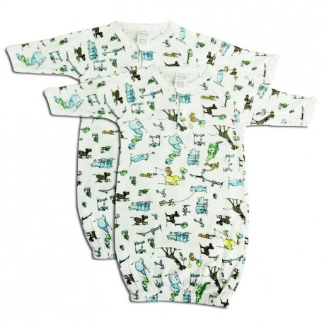 Boys Print Infant Gowns 2 Pack