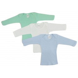 Boy's Rib Knit Pastel Long Sleeve T-Shirt 3-Pack