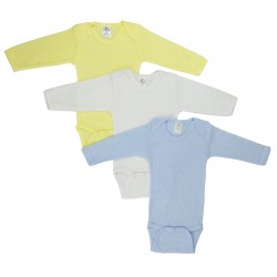 Boy's Rib Knit Pastel Long Sleeve Onezie 3-Pack