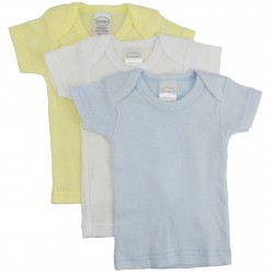 Boy's Rib Knit Pastel Short Sleeve T-Shirt 3-Pack